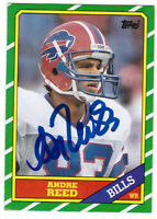 1986 Topps ANDRE REED Autographed Auto #388 Rookie Card Buffalo Bills HOF