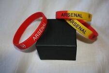 Football / Soccer E.P.L Premier New Arsenal F.C Silicone Rubber Bracelet 3 Pack