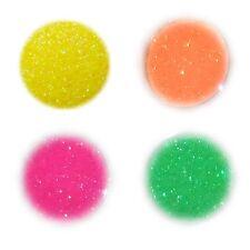 4x Neon Glitter, Glitzer, Glimmer, Pulver, Puder, Nail Art, Glitterstaub