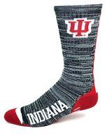 NCAA Indiana Hoosiers Gray and Black RMC Vortex Crew Socks