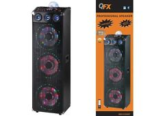 "QFX SBX-412303BTL Three 12"" PA Cabinat Speaker System  Bluetooth  Disco Light"