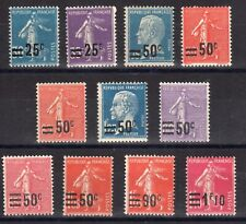 FRANCE: SERIE COMPLETE DE 11 TIMBRES NEUF** N°217/228 Cote: 36€