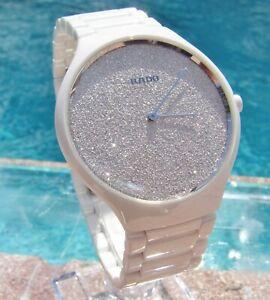 Rado True Thineline White Ceramic Ladies Watch   MSRP $2,100.00