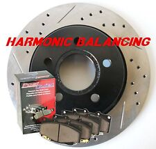 Fits Pontiac G8 GT Drill Slot Rotors Pads Harmonically Balanced Front Rear Set