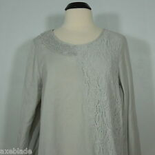 MONTEREY BAY Lace Embellished Tunic Top, A-Line Petites size PL (NEW)