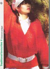 CROSSOVER CARDIGAN knitting pattern - Marshall Cavendish pamphlet TF4