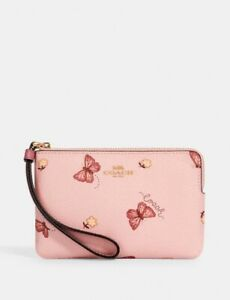 Coach wristlet pink with butterfly NEW With Tag. 2971