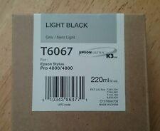11-2009 NEW GENUINE EPSON T6067 LIGHT BLACK 220ml K3 INK STYLUS PRO 4800 4880
