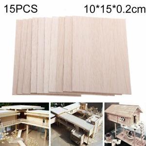 100X150X2mm 15pcs Wooden Plate Model Poplar Wood Sheets DIY House Ship Aircraft
