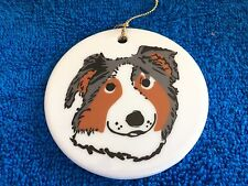 KATHERINE WASHBURN CERAMICS: DOG CHRISTMAS ORNAMENT #7