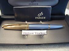 Parker 100 Fountain Pen Diamond Blue Fine Nib NEW