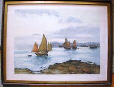 Belle Litho  couleur  Retour   de pêche de  A.LAFITTE