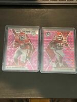 2020 Mosaic Football Clyde Edwards-Helaire RC NFL Debut PINK CAMO PRIZM Lot(2)