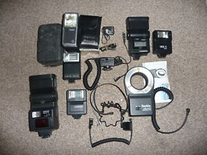 Collection Of  Flash Units & Cables - Spares Or Repair - Phillips, Sunpak etc