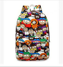 South Park Graffiti Cartoon Pattern Canvas Backpacks Travel Bag Kawaill