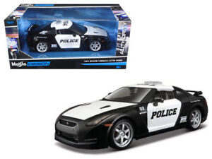 Maisto 2009 Nissan GT-R (R35) Police Diecast Car Model Cop 1:24