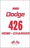 OEM Maintenance Owner's Manual Bound for Dodge 426 Hemi - Ramcharger 1965
