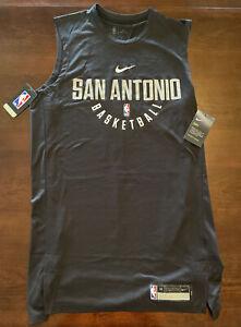 Medium-Tall Nike Men's NBA San Antonio Spurs Basketball Muscle Tank Shirt 857559