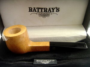 Rattray's Handmade Pipe Natural Pot NEW & BOXED