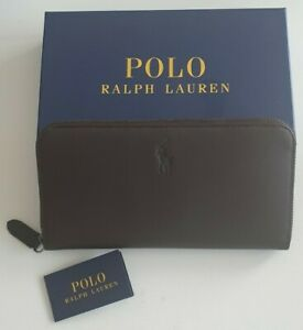 Ralph Lauren Womans Dark Brown Cowhind Skull Wallet new unused