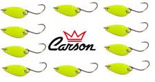 10 ondulanti 3g giallo trout area game spoon pesca trota lago fiume spinning