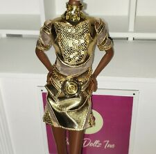 Barbie Gold Label Fashion Star War 3CPO Gold Dress only