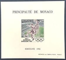 MONACO bloc spécial n° 18a FOOTBALL Barcelone 1992 NON dent., TB **, RARE ! 230€