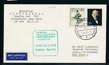 96046) LH FF Frankfurt-New York 26.4.70, carta a partir de Berlín