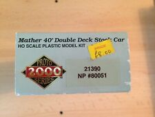 Lifelike HO Proto 2000 Mather Double Deck Stock Car NORTHERN PACIFIC