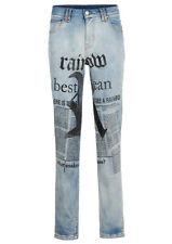 Coole Jeans mit ausgefallenem Druck   Gr.38