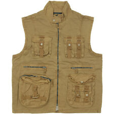Mil-Tec Mens Fishing Vintage Vest for Military Outdoor & Survival Coyote XL