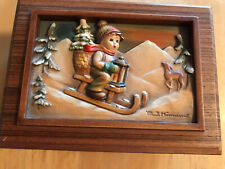 Goebel M.J. Hummel Anri 1986 Ride into Christmas Music Box First & Ltd Edition