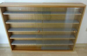 Wandregal Vitrine Sammler Setzkasten Schaukasten Glastüren 80x60x9,5 cm für Lego