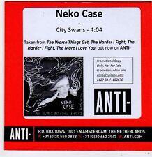 (FG961) Neko Case, City Swans - 2014 DJ CD