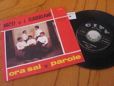"""7"""" single NICO E I GABBIANI ORA SAI PAROLE 1967 ITALY BEAT EX  """