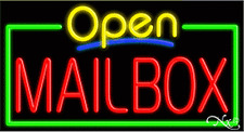 """Brand New """"Open Mailbox"""" 37x20 Real Neon Sign W/Custom Options 15533"""