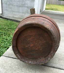 Vintage Antique R.H. Graupner Brewery Brewing Harrisburg PA Wooden Beer Barrel
