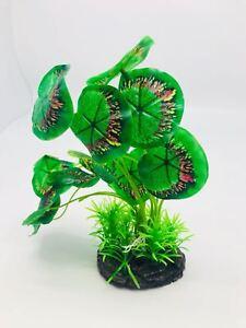 Artificial Plastic Plants Aquarium Decor Ceramic Base Water Grass for Fish Tank