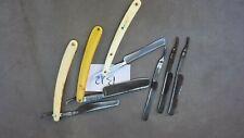 B12  3 anciens rasoirs coupe choux et 3 lames pour pièces