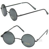 John Lennon Sunglasses Shades Small Round Hippie Hipster Retro Vintage Black 70s