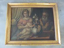 """Barock 18.Jhdt., """"Die Heilige Familie"""", großes Gemälde auf Leinwand, Weihnachten"""