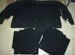 MAZDA MX-5 NB Hutablage Teppich Teppiche schwarz Velour Velourteppich