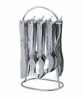 Stainless Steel Cutlery Set, 24 Pieces, Silver