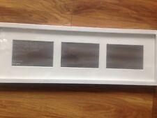 "New John Multi-aperture Box 3 Photo Frame, 4"" x 6"" (10 x 15cm),White, rrp £23"