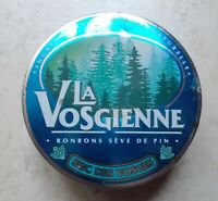 Ancienne boite métal bonbons La Vosgienne Sève de pin