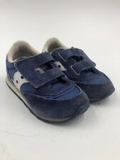 Saucony Baby Jazz Low Pro Toddler Shoes Blue Size 7M - Hook And Loop