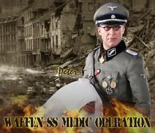 "DID 1/6 Scale 12"" WWII German Waffen Operation Medic Peter Action Figure D80100"