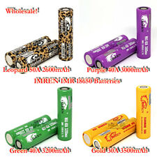 18650 2600~3500mAh 30~50Amp Rechargeable Flat Top Mods Battery Wholesale