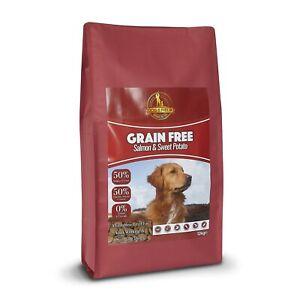Dog & Field Grain Free Adult Dry Dog Food – Salmon & Sweet Potato 1kg & 12kg