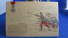 cpa illustrateur militaire  drapeaux coquemer legion d honneur 1914
